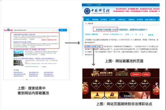 网站被黑后可能出现的页面示例