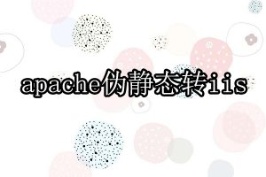 apache伪静态转为iis伪静态