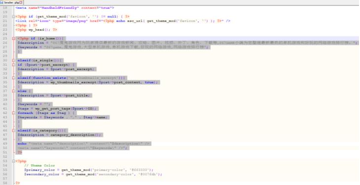 WordPress设置首页关键词和页面描述